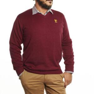 premier-cotton-v-neck-maroon-2035