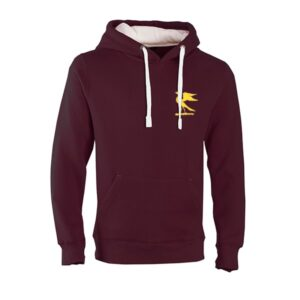 Burgundy Hawks' Hoodie with white toggles
